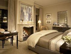 Elegant Urban Bedroom  :  Lake Shore Drive Penthouse, Chicago - Jessica Lagrange