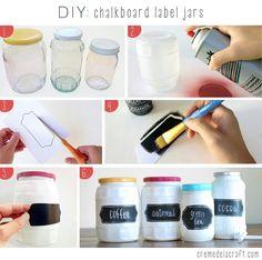 DIY chalkboard labels