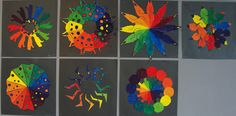 radial symmetry as well as color theory
