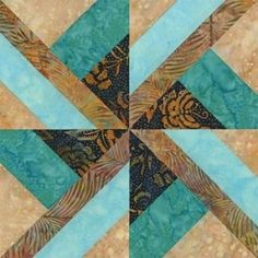 Chief Seattle Quilt Block Pattern; love the design here and especially the color combo. Would make a nice card too.