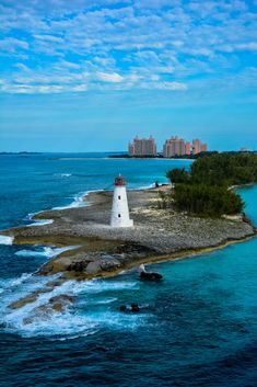 Hog Island Lighthouse, Nassau Bahamas by D Hiltner #Lighthouses #Bahamas #lighthouse #beacon