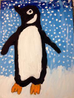 Winter! Children painting