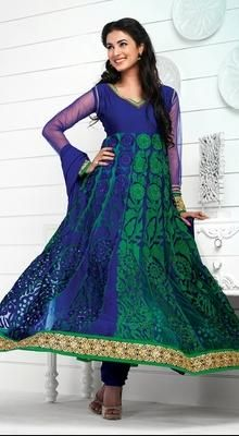Bollywood Diva Sonal Chauhan Georgette Anarkali Suit