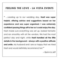 awesome vancouver wedding  Testimonial Tuesday  Can't believe it's been almost two months since Q&J's wedding celebration. We supported this lovely couple with our day-of coordination & consulting services leading up to their personalized backyard wedding with a fantastic team of vendors. Double-tap to see a few key vendors :) #LaVistaEvents #QandJwed by @lavistaevents  #vancouverwedding #vancouverwedding