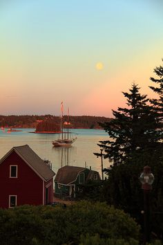 Swan's Island moon- can't wait to be back in my happy place