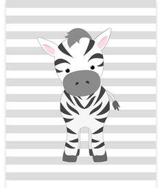 Zebra Nursery Art, Nursery Wall Art, Safari Nursery Decor, Baby Zoo Decor, Baby Girl Room, Baby Shower Gift, Baby Room Decor, Jungle Decor: Prints are freshly printed to order on 69 lb commercial grade luster paper using premium archival inks for vibrant color and longevity.