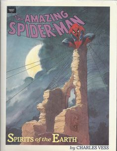 Amazing Spider-Man Spirits of the Earth 1 by Charles Vess, HC, 1990, Marvel Comics by HeroesRealm on Etsy