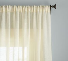 Shop Pottery Barn for expertly crafted linen curtains and window panels. Find quality linen drapes in solid colors or patterns and dress up your windows in style. Sheer Linen Curtains, Sheer Curtain Panels, White Curtains, Grommet Curtains, Drapes Curtains, Bedroom Curtains, Window Sheers, Room Window, Pottery Barn