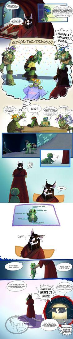 TMNT - Grandpa Splinter by Myrling on DeviantArt <<< I cant imagine Raph being a dad, it's too weird Tmnt 2012, Ninja Turtles Art, Teenage Mutant Ninja Turtles, Turtle Tots, Tmnt Comics, Dc Movies, Animation, Fan Art, Pics Art