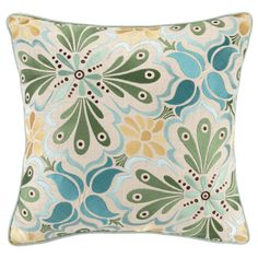 Talavera Embroidered Pillow @Layla Grayce