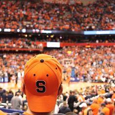 #TBT Otto's Army cheering on the #SyracuseU men's basketball team. #GoOrange (Photo by Cassie Dagostino '16)