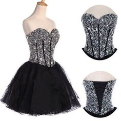 Black Homecoming Dress,Tulle Homecoming Dresses,Sweetheart Homecoming Dresss,Short Prom