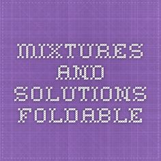 Mixtures and Solutions Foldable