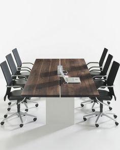Mesa de reuniones moderna de madera TIX by Dante Bonuccelli DAVIS