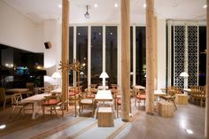 """The nature-inspired """"Caffee the Sól"""" interior design"""
