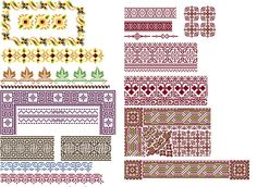 Amazing borders 1 Cross stitch pattern PDF. Instant download