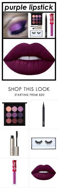 """Purple Lipstick💋💄"" by xxpiercetheabbeyxx ❤ liked on Polyvore featuring beauty, MAC Cosmetics, NARS Cosmetics, Ilia, Huda Beauty and Lime Crime"