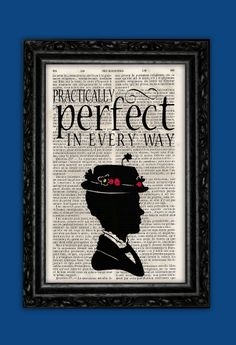 Mary Poppins Practically Perfect Print Disney by ThePurpleHamster, €7.00