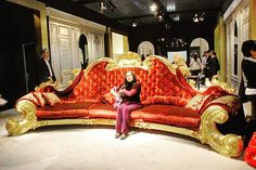 Huge Victorian couch Check us out on Fb- Unique Intuitions #uniqueintuitions #victorian #couch