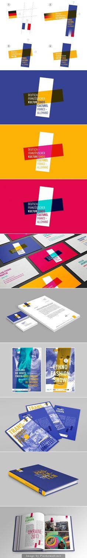 french german inspired logo / identity system / branding / stationary / graphic inspiration / color blending multiply