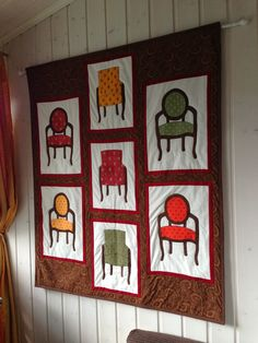 chairs applique wall hanging