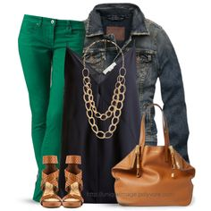 """""""Navy & Green"""" by uniqueimage on Polyvore"""