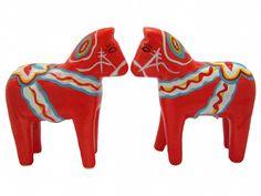 Red Dala Horse Salt and Pepper Shakers – GermanGiftOutlet.com