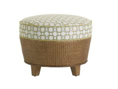 Tommy Bahama Home Twin Palms Brown, White And Blue Lago Mar Ottoman 1947 44 40 Upholstered Storage Bench, Ottoman Bench, Beach Living Room, Lexington Home, Clutter Free Home, Florida Home, Tommy Bahama, Luxury Living, Home Furniture