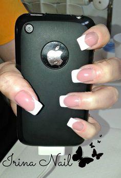 White franch nail art by Irina Nail