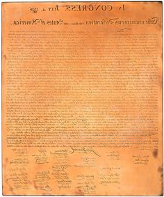 #JoséMaríaCundin created a #handengraving of the #DOI in early 1990's [only a few hundred are left] The only since #WilliamJStone engraved a facsimilie of the #DeclarationofIndependence | DocsTeach