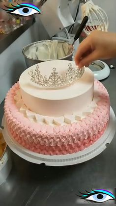Cake decorating ideas - cakes and baking - .- Kuchen dekorieren Ideen – cakes and baking – Cake decorating ideas – cakes and baking – - Cake Decorating Techniques, Cake Decorating Tutorials, Cookie Decorating, Cake Decorating Amazing, Decorating Ideas, Decorating Cakes, Patisserie Fine, Cake Recipes, Dessert Recipes