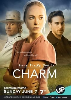 Love Finds You In Charm is a 2015 made for TV film directed by Terry Cunningham and starring Danielle Chuchran, Trevor Donovan, Tiffany Dupont, Drew Fuller, Meg Wittman and Dawn Lafferty. Plot: A young Amish woman, who isn't satisfied with her path at home, visits a cousin for the summer. Over the summer, she is exposed to another world, finds friendship and more. Soon she must choose and come to terms with the life she wants.