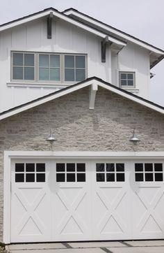 Stone exterior with barn lights - Eric Olsen Design