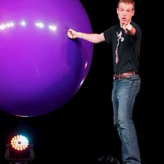 """Me in a big balloon! You can see the whole routine on YouTube! Just search """"Stephen Herron Big Balloon""""   Thanks & Enjoy!"""