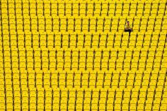 The 100 best pictures of 2016:      A UD Las Palmas supporter sits in the stands prior to the La Liga match between UD Las Palmas and Real Madrid CF on September 24.
