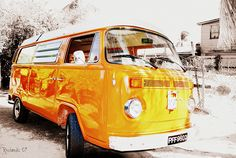 Really, really cool vintage VW camper