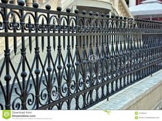 Wrought Iron Fence - Download From Over 39 Million High Quality Stock Photos, Images, Vectors. Sign up for FREE today. Image: 31165541