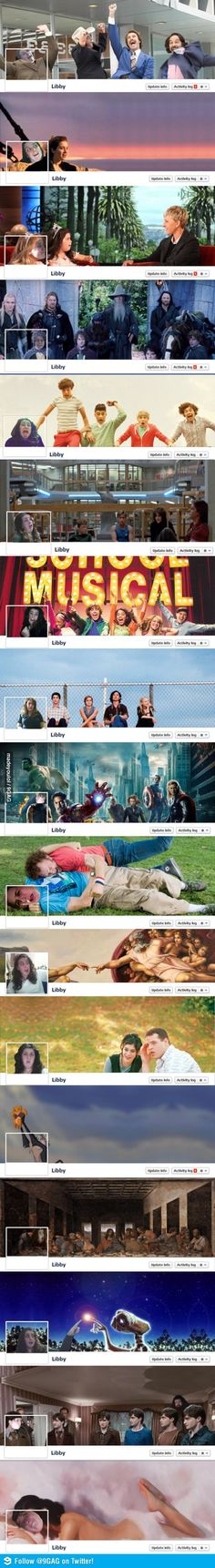 @Amanda Hinkey  Why can I see you doing some of these?  I think we need Doctor Who ones....    The Best Facebook Cover Photos