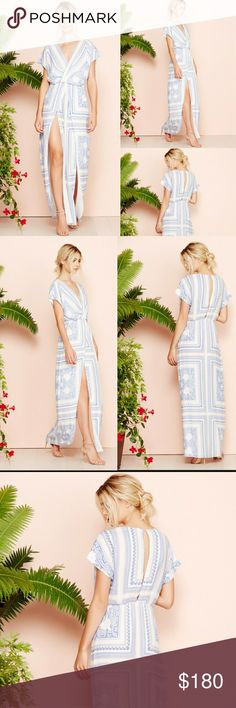 Lover + Friends Twilight Maxi Goddess Dress Sz. L Up for sale Lover + Friends Twilight Maxi Goddess Summer Sun Dress NWT   Size Large  An airy Lovers + Friends maxi dress in mixed paisley.   A deep front slit and surplice neckline provide a flirty touch. Gathered elastic waistband. Button closure at neckline. Short dolman sleeves. Lined.  MSRP $240   ~~~~~~~~~~~~SOLD OUT SOLD OUT SOLD OUT SOLD OUT~~~~~~~~~~~~~~~~ Lovers + Friends Dresses Maxi