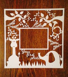 Baby scan photo paper cut papercut scan by PrettyFlamingoDesign
