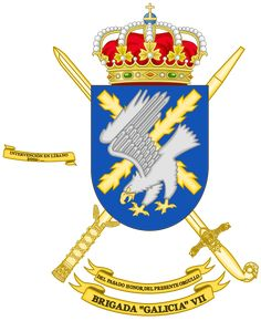 Archivo:Coat of Arms of the Brigade Galicia (Polyvalent Brigade). Coat Of Arms, Wallpaper, Battle, Spanish, Playing Cards, Knights, Flags, Warriors, World