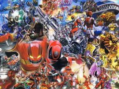 Power Rangers Collage