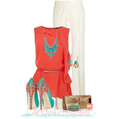 Turquoise With Your Coral Contest, created by candy420kisses on Polyvore