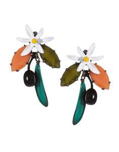 les nereides floral earrings