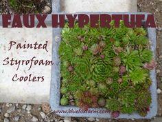 Faux Hypertufa?  How is that possible? See more here; www.bluefoxfarm.com/faux-hypertufa-painted-styrofoam-troughs.html