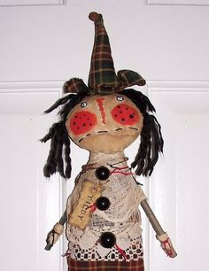 PRiMiTiVe UGLee Witch ArT DoLL TiLdY HW291 by primsgonewild, ***SOLD***