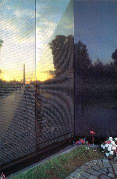 Vintage Military Vietnam Veterans War Memorial Jumbo Postcard