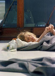 "kennedys-obsession: "" Caroline Kennedy aboard the Honey Fitz, 1963. """