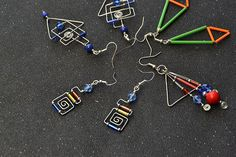 Another picture for the bugle beads earrings.