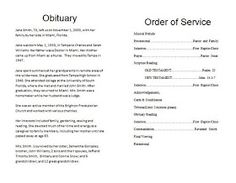 Memorial Bulletins For Funerals  Funeral Memorial Program